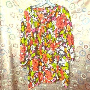 Woman Within Floral Print 2x Blouse